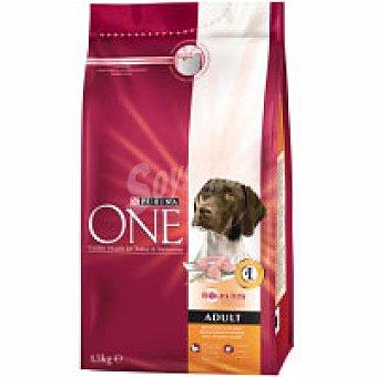 Purina One Alimento de pollo-arroz perro adulto 1,5 kg