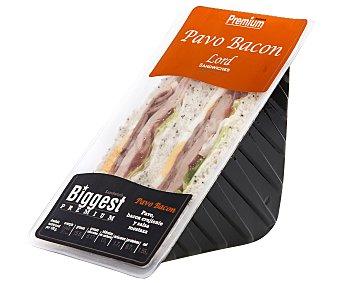 Lord Sandwiches Sándwich de bacon asado, con pechuga de pavo ahumada y mostaza 215 gramos