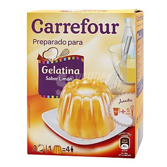 Carrefour Preparado para gelatina sabor limón 170 g