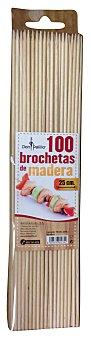 Don Palillo Pincho madera para brocheta Paquete 100 unidades