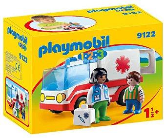 Playmobil Escenario de juego Ambulancia con figuras y accesorios, 1.2.3 playmobil 123 9122