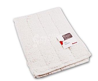 AUCHAN Alfombra de rizo 100% algdón, 1200 g/m², color blanco, 40x60 centímetros 1 Unidad