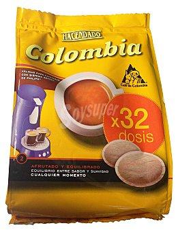 Hacendado Café cápsula (compatible con cafetera sistema senseo) colombia Paquete 32 uds