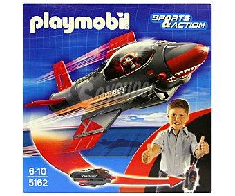 PLAYMOBIL Avión Click and Go Shark Jet, Modelo 5162 1 unidad
