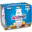 Yogur líquido de multifrutas Pack 6 botellines x 100 ml Actimel Danone