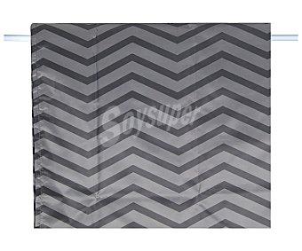 Actuel Cortina de ducha 180x200cm. 100% poliéster color gris estampado rayas ACTUEL.