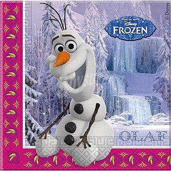 Disney Frozen Servilletas decoradas 33X33 cm Paquete 20 unidades