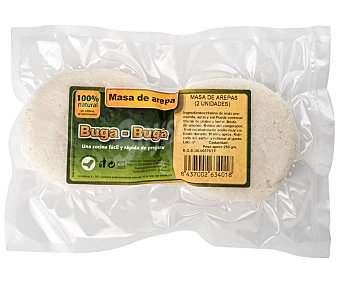 Buga Buga Masa de arepas congelada, 100% natural sin adivitos ni conservantes 2 uds