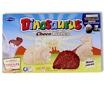 Dinosaurus Artiach Galleta chocolate blanco 180GR