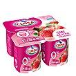 Yogur sabor fresa 0% sin gluten Pack 4x125 g CLESA