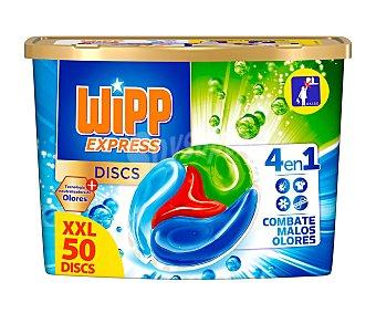 Wipp Express Detergente en cápsulas, 4 en 1 50 uds.x 25 g