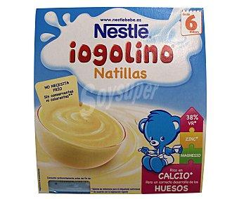 Iogolino Nestlé Natillas de leche estuche 400 g Pack 4x100 g