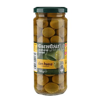 Carrefour Aceituna verde entera 198 g