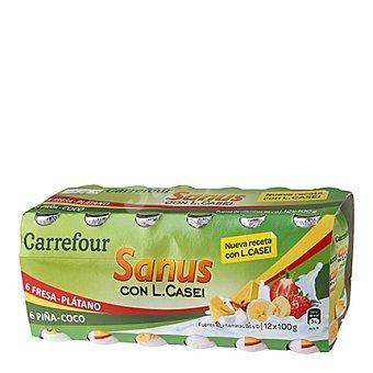 Carrefour Yogures con L.casei sabores Pack 12x100 g