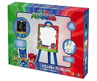 Pjmasks Pizarra con caballete plegable y 2 superficies, incluye accesorios, PJ MASKS.