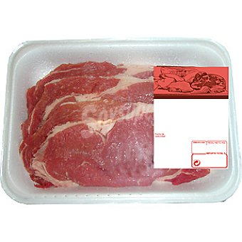 Ternera filetes de entrecot peso aproximado Bandeja 500 g