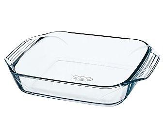 PYREX Fuente rectangular fabricada en vidrio borosilicato, 31x20 centímetros, apta para horno, microondas y lavavajillas, modelo Optimum 1 unidad