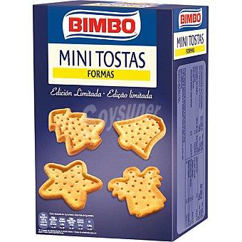 Bimbo Mini tostas de formas navideñas Paquete 100 g