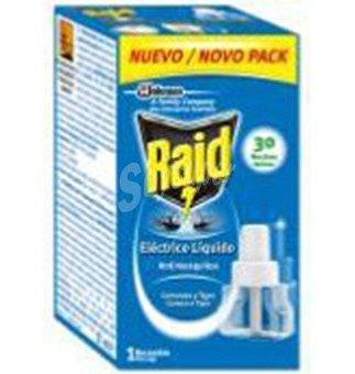 Raid Insecticida eléctrico líquido recambio 30 noches 1 unidad