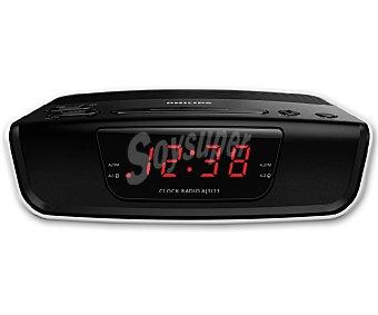 PHILIPS AJ3123/12 Radio reloj despertador con sintonizador de radio am/fm altavoz y alarma por radio o zumbador