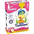 Fresa y plátano para llevar pouch 4 unidades 70 gr Danonino Danone