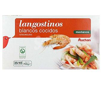 Auchan Langostinos cocidos medianos 35/45 ultracongelados 700 g