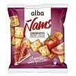 Panes especiales con sabor a jamón y tomate Ñams Alba 80 g Alba