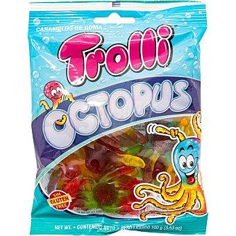 Trolli Octopus caramelos de goma surtidos con brillo sin gluten bolsa 100 g bolsa 100 g