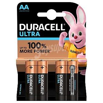 Duracell Ultra pila alcalina AA 1.5V LR6/MX1500 Blister 4 unidades