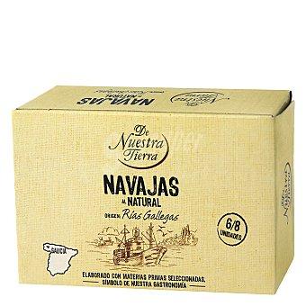 De Nuestra Tierra Navajas de las rías gallegas al natural 63 G 63 g