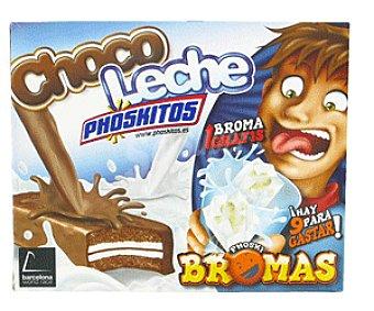 Nutrexpa Pastelitos Phoskitos de Chocolate Con Relleno de Leche 132g