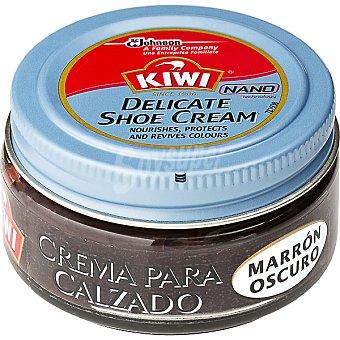 Kiwi Crema color marrón oscuro para calzado Tarro 50 ml