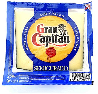 Gran Capitán Queso semi cuña 250 GR