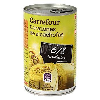 Carrefour Corazones de alcachofas 6/8 piezas 240 g