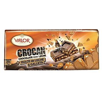 Valor Chocolate con leche y galleta con dulce de leche 200 gramos