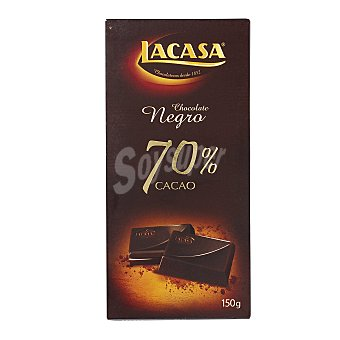 Lacasa Chocolate negro intenso 70% cacao Tableta 150 g