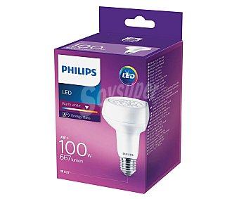 Philips Bombilla led reflectora R80 de 7W, con casquillo E27 (grueso) y luz cálida philips