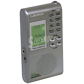LAUSON RD113 Radio digital de bolsillo en color gris