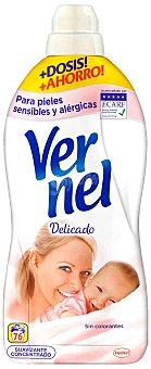 Vernel Suavizante Delicado para pieles sensibles Hipoalergénico 76 lavados