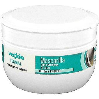Veckia Mascarilla termal con proteínas de soja para todo tipo de cabello tarro 300 ml cuida y protege Tarro 300 ml