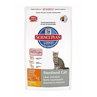 HILL'S SCIENCE PLAN STERILISED CAT Alimento especial para gatos esterilizados con pollo Bolsa 8 kg