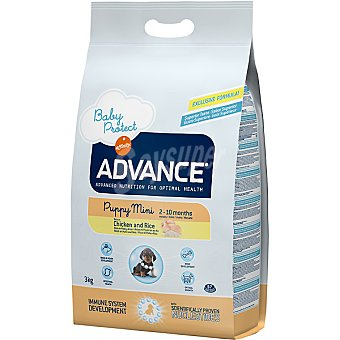 Advance Affinity Alimento de alta gama para cachorros de raza pequeña y lactantes rico en pollo y arroz Mini Puppy Bolsa 3 kg