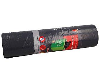 Auchan Bolsas de basura antigoteo especiales para cubos comunidad gris. capacidad 100 litros 10 uds