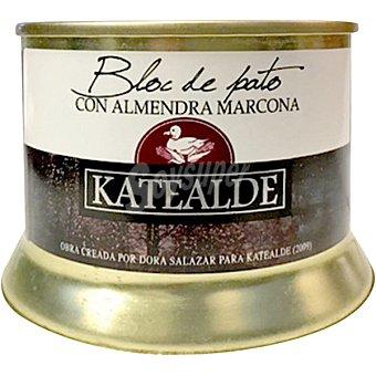 Katealde Bloc de pato con almendra marcona 98% foie lata 130 g lata 130 g