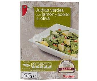 Auchan Judías verdes con jamón y aceite de oliva 240 Gramos