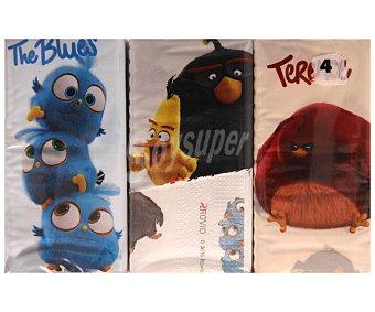 Angry Birds Lote de 6 paquetes de pañuelos de 4 capas, decorados con los divertidos personajes de ANGRY BIRDS