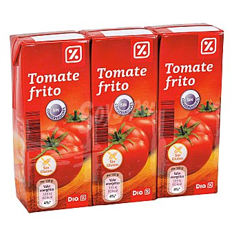 DIA Tomate frito Pack 3 unidades 215 gr