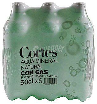 CORTES Agua con gas Pack 6 x 500 cc - 3 l