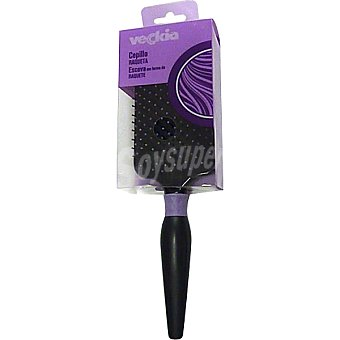 Veckia Cepillo neumático raqueta para cabellos largos Envase 1 unidad