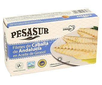 Pesasur Filetes de caballa de Andalucía en aceite de girasol 80/80 g